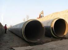 供暖保温钢管施工现场